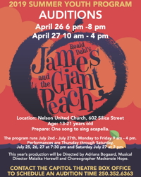 James & the Giant Peach Auditions!