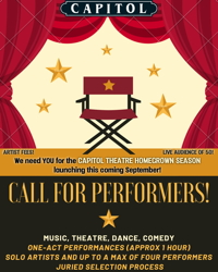 CALL FOR PERFORMERS!